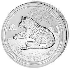 Australia $1 Dollar 2010 Lunar Series II Tiger 1 oz .999 Silver Coin
