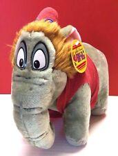 Vintage Rare Disney World On Ice Aladdin Abu Elephant Plush Stuffed Toy Monkey