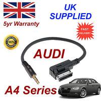AUDI A4 Series AMI MMI 4F0051510F Music Interface 3.5mm Jack input Cable