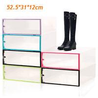 New Long Boots Shoe Storage Organizer Shoe Boxes Clear Folding Men Women 5 Color