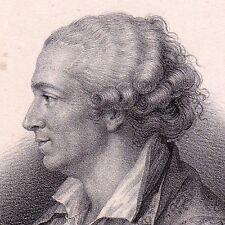 Portrait XIXe Pierre-Augustin Caron de Beaumarchais 1833 Siècle des Lumières