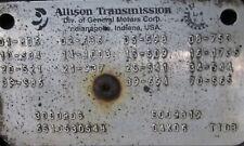 ALLISON 3000 RDS TRANSMISSION W/ PTO DRIVE GEAR MWU - 2005