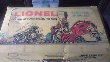 Vintage LIONEL ELECTRIC TRAIN SET 1619W  poultry ,boat , allis chalmers cars +