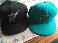 VTG Florida Marlins New Era Diamond Collection Wool Fitted Cap Hats MLB Sz 7 3/8