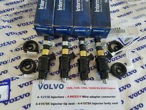 Volvo 1800E & ES - 142E, 144E, 145E New Fuel Injector Set of (4) - Volvo 461674