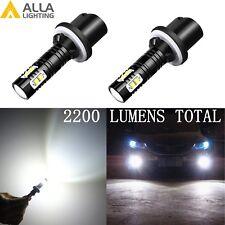 Alla Lighting 880 LED Fog Light Bulb Driving Lamp Driver Passenger Side,White 2X