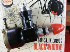 Rare Cox Black Widow 049 1/2 A Motor In Plastic Show Case