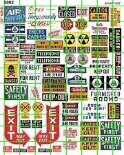 5002 DAVE'S DECALS HO SCALE TELEPHONE STORE FACTORY EXIT FOR RENT A/C SIGNS