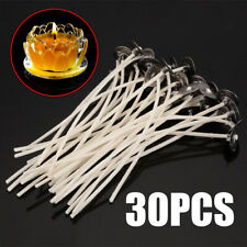 30x Candle Wicks Cotton Core Pre-Waxed Wick With Sustainer Candle Household