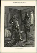 1891 ANTIQUE PRINT-FINE ART deux hommes poignards tuer Peau Tapis (267)