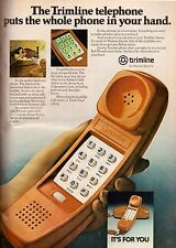 1980 Western Electric Trimline Touch Tone Phone Telephone Vintage Print Ad 1980s