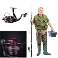 QIDA Metal 12BB Spinning Fishing Reel 5.2:1 Speed Ratio Line Fish Wheel KIts