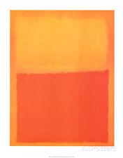 Orange and Yellow Art Print By Mark Rothko - 22x28