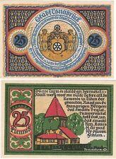 Alemania 25 Pfennig 1921 Osnabruck NOTGELD UNC Uncirculated banknote