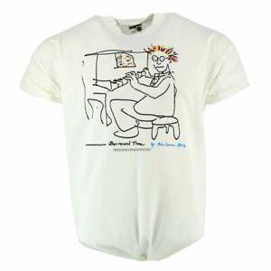 John Lennon Borrowed Time 1977 Men's T-shirt White Official  Music XX-Large