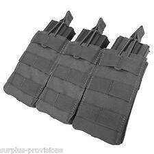 Condor - Triple 5.56 Open Top Mag pouch - Black - Tactical clip Molle - #MA27