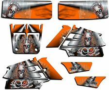 YAMAHA BANSHEE GRAPHICS WRAP DECAL STICKER KIT TURBO CHARGED ORANGE