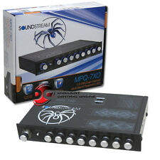 New Soundstream 1/2 Din Eq Car Audio 7-Band Equalizer Dual Channel Multi Band Eq