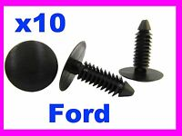 10 FORD bumper fender trim panel fixing fastener clips