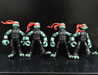 lot of 4 TMNT TEENAGE MUTANT NINJA TURTLES  Raphael action figure #lki7