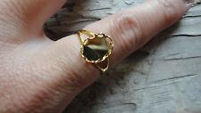 Split Band Ring Gold Plated Adjustable 8x10mm Bezel (Pkg 6) 0087