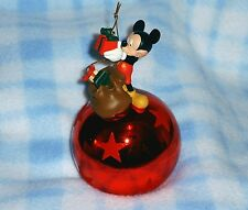 New Disney Mickey Mouse Presents Figurine Christmas Ornament BNIB