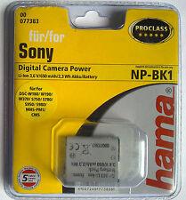 077383 Hama ° per Sony np-bk1 dsc-s750 s950 w180 w190 w370 mhs-pm5k mhs-pm1 Class