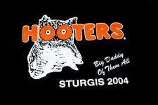 HOOTERS UNIFORM T-SHIRT STURGIS 2004 XXL RARE biker  HEAVYWEIGHT COTTON