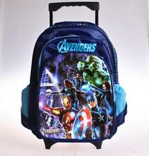 """16"""" Avenger Heros Backpack School Roller Bag Kids Trolley Rolling Wheel Luggage"""