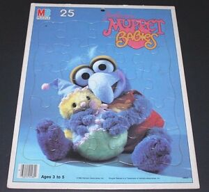 Vintage 1984 Jim Henson's MUPPET BABIES GONZO Frame Tray Puzzle 100%!!