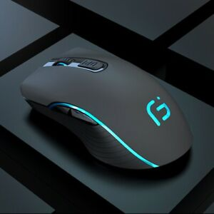 2400DPI Gaming Mouse Wireless Rechargeable Silent Colorful LED Backlit Optical