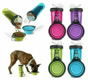 360ml Portable Snack-Duo Chambered Hydration Bottle & Cup For Dogs