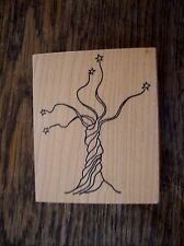 Tree With Stars, Rubber Stamp Tree, Rubber Stamp Tree and Stars