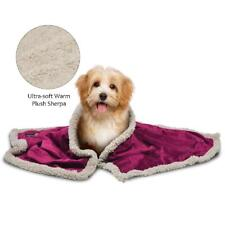 Pawsse Sherpa Puppy Blanket For Small Dogs Kitten, Warm Flannel Plush Pet Bed Bl