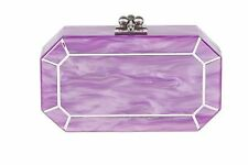 Edie Parker Fiona Faceted Orchid Clutch Purple Lavender NWT