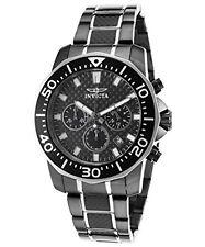 Invicta Pro Diver Chronograph Carbon Fiber Dial Two-tone Mens Watch 17257
