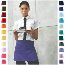 More details for half size short waist apron 3 pockets cafe restaurant waiter waitress pub bar