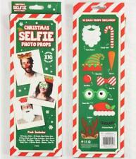 Palo para Selfie de Navidad apoyos de la foto Paquete de 10 Vestido Fiesta De Navidad Photobooth