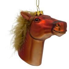 Horse Head Glass Christmas Ornament