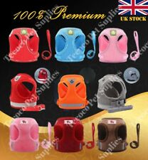 More details for small pet dog puppy cat harness breathable reflective soft mesh vest lead cute