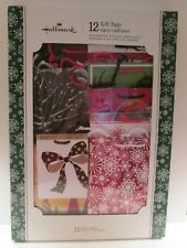 Hallmark set of 12 Assorted styles and sizes Gift Bags