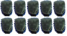 Lot of 10 Blue & Gray Micro Fiber/Chenille Car wash & Home/Car Duster Mitt