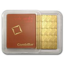 50 gram (50 x 1 gram) Valcambi Gold CombiBar in Assay Card