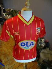 ANCIEN MAILLOT FOOTBALL UMBRO LENS RCL SANG ET OR N°4 DACOURT 1999-2000