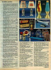 1980 ADVERTISEMENT Lamp Lite Lava Bar Coors Budweiser Stop Light Beer Cans Wave