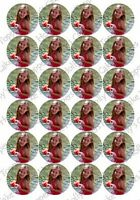 YOUR OWN ICING CUP CAKE Photo Toppers 24 not Rice paper