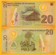 Nicaragua 20 Cordobas p-202b 2007 UNC Polymer Banknote