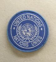 UN Shoulder Patch, United Nations, Army, Military, Offical Badge, Velcro Option