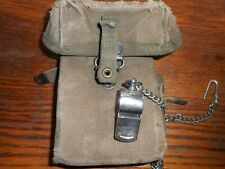 WW2 US shotgun????? ammunition pouch and military whistile original issue