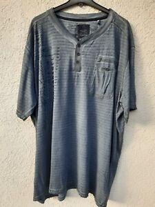 Herren T-Shirt Gr.5XL - Übergrösse - Blaugrau - Oilwash